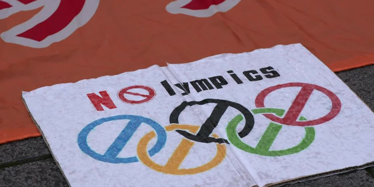 Japan: Tokyo protest against Olympic games