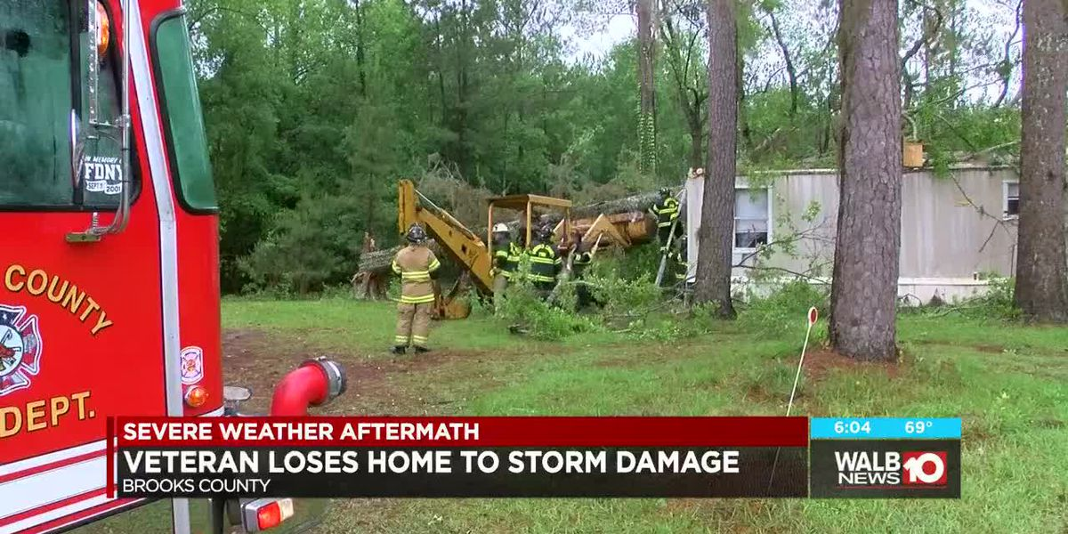 Veteran loses home to storm damage