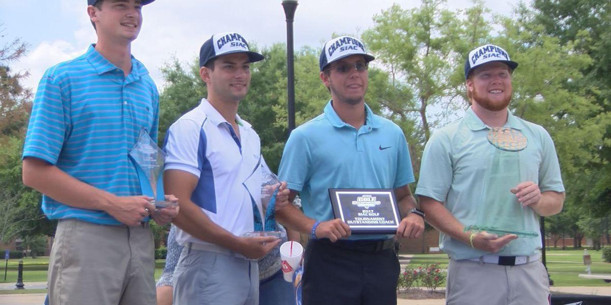 Albany State celebrates historic golf title