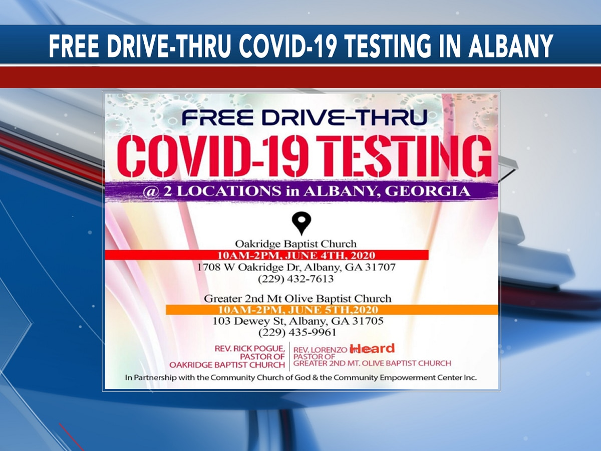 Free drive-thru COVID-19 testing available in Albany