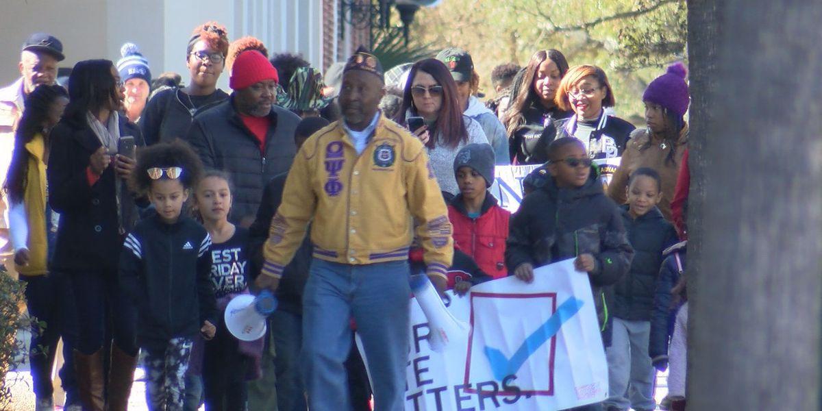 Dozens walk across Albany to celebrate Martin Luther King Jr.'s legacy