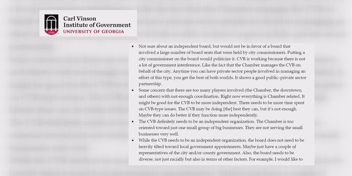 Study displays stakeholder response ahead of possible Chamber, CVB split