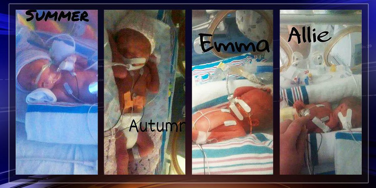 Mother gives birth to quadruplets Memorial Day weekend