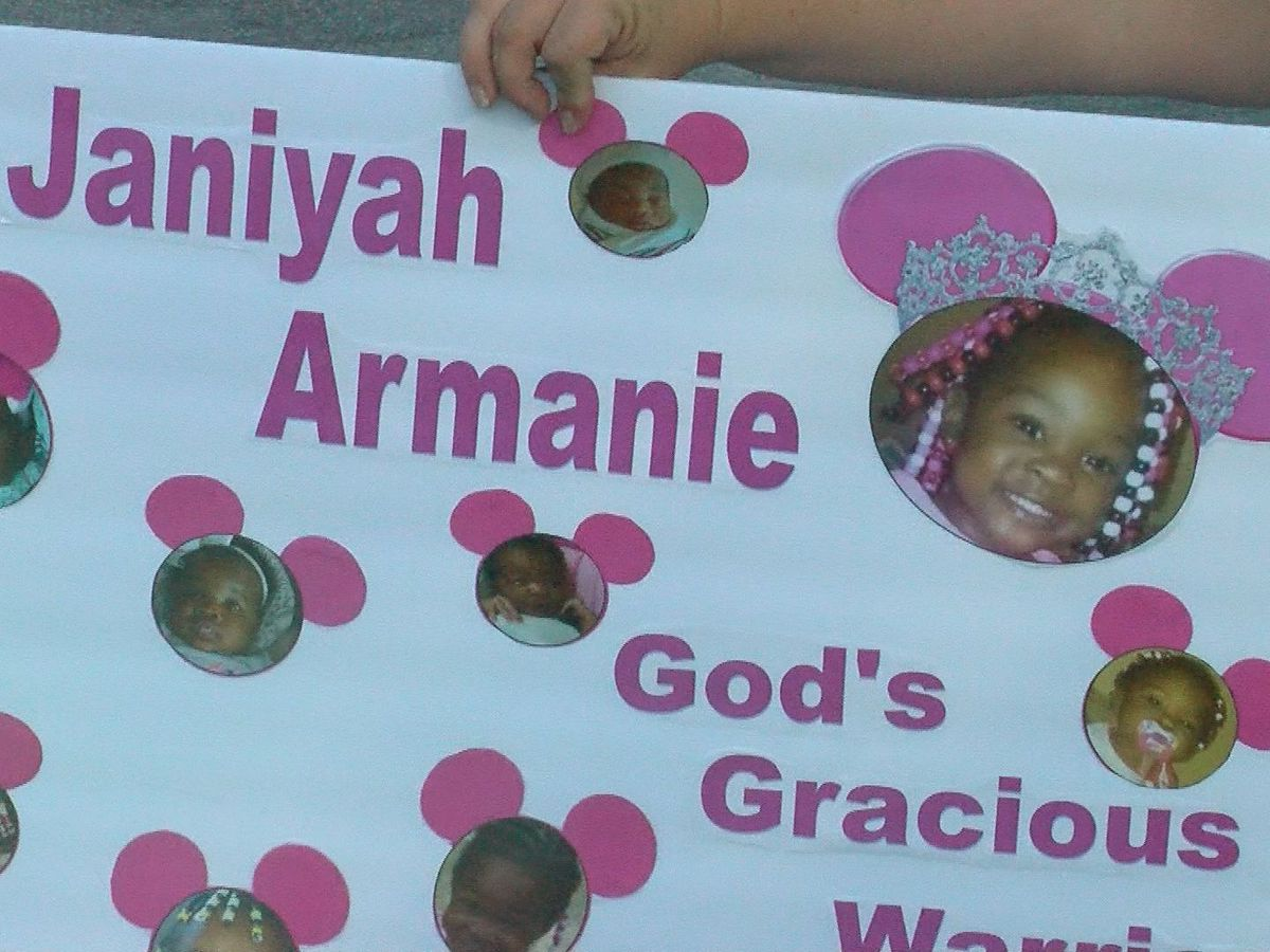 'Even in death I want to make sure that everybody hears her name': Vigil held Saturday for Janiyah Brooks