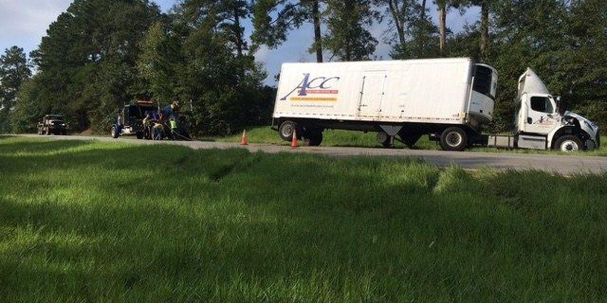 US 19 blocked by Thomas Co. semi