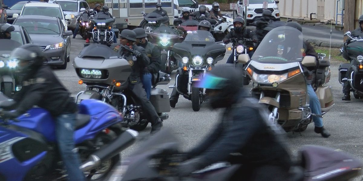 APD escorts bike club through Albany in Honor of 'Rashad Roberts'