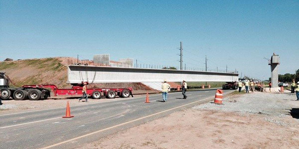 Leesburg Bypass bridge under construction