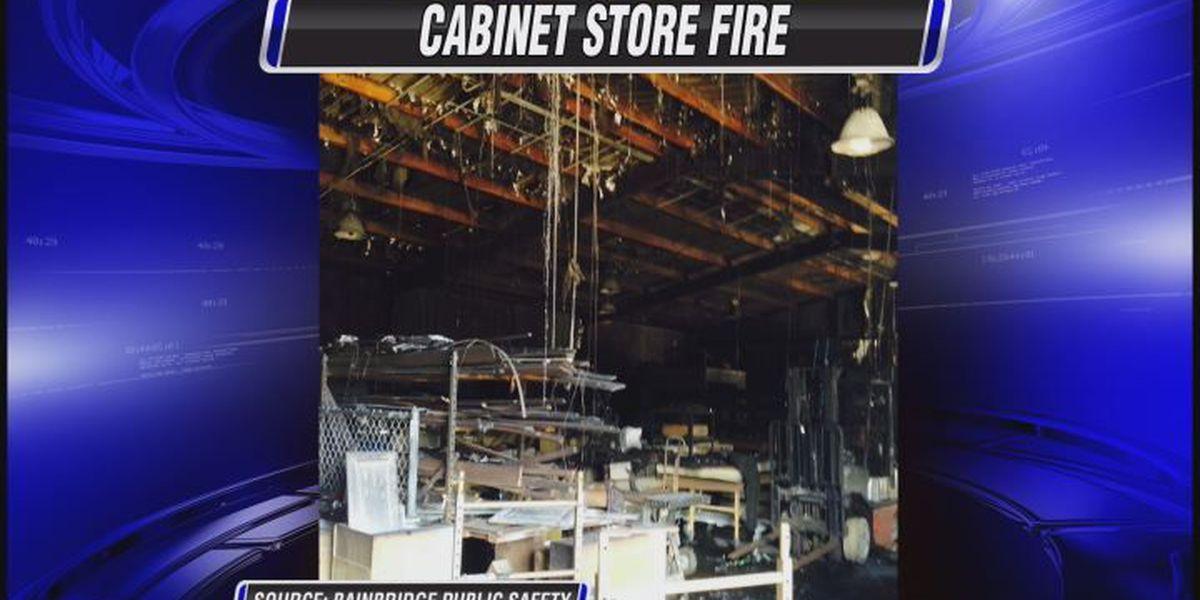 Fire damages cabinet store in Bainbridge