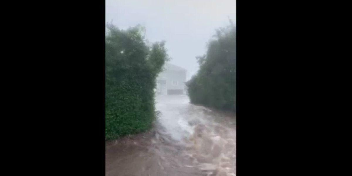 Viewer captures video of water rushing through Georgetown Co. neighborhood