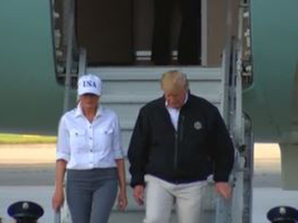 President Trump visits South GA after hurricane
