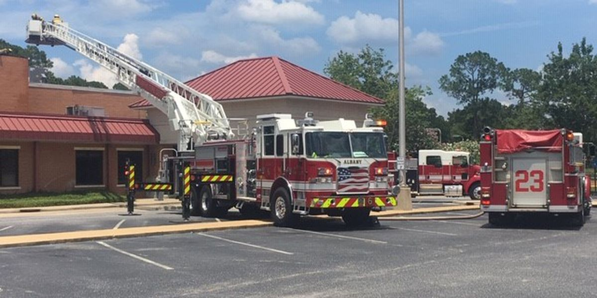 Albany YMCA roof catches fire