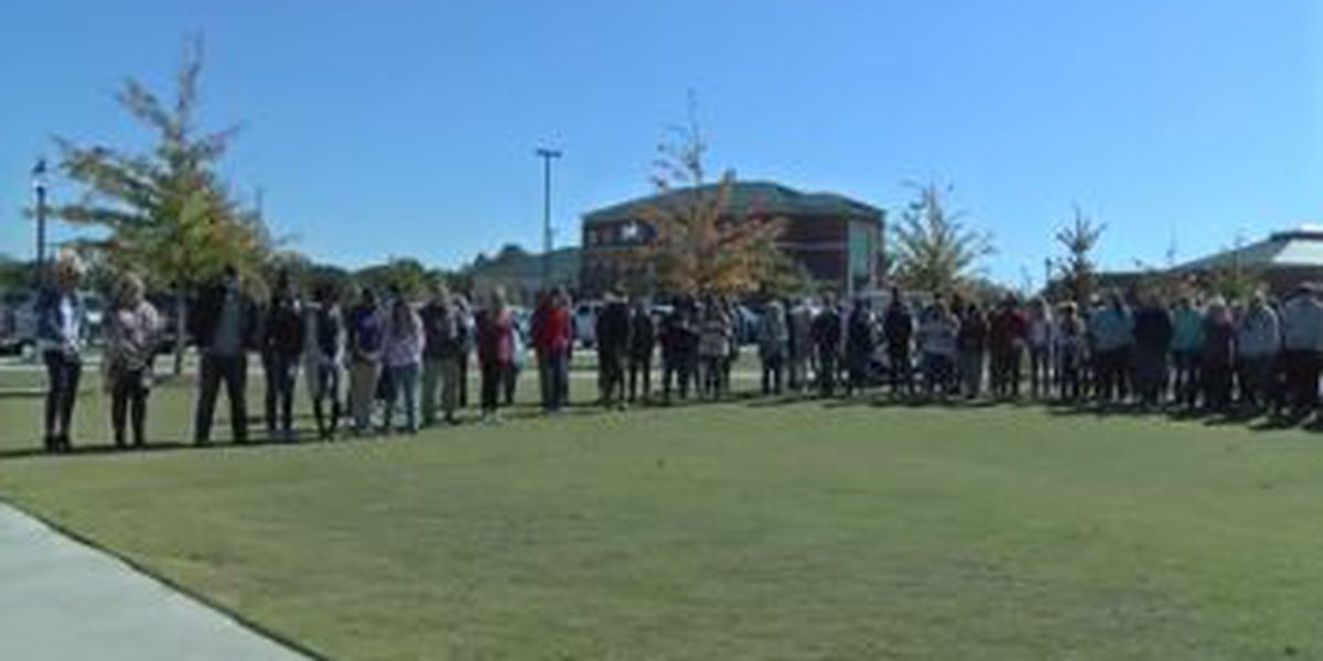 Southern Union State Community College holds prayer and moment of silence for Aniah Blanchard