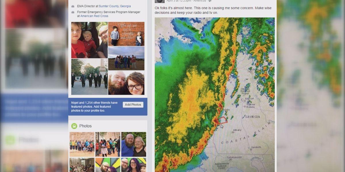 Sumter Co EMA director: social media saved residents from tornado