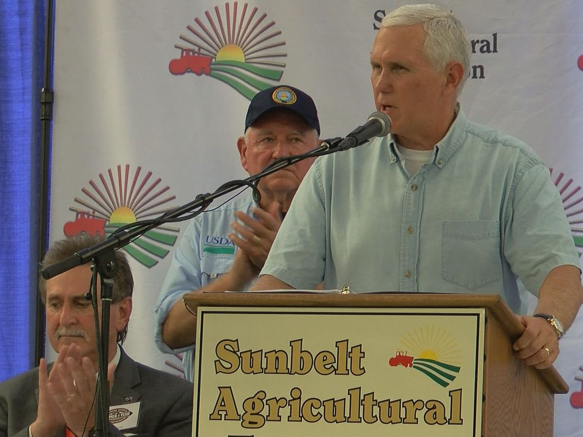 Vice President Mike Pence visits Sunbelt Ag Expo