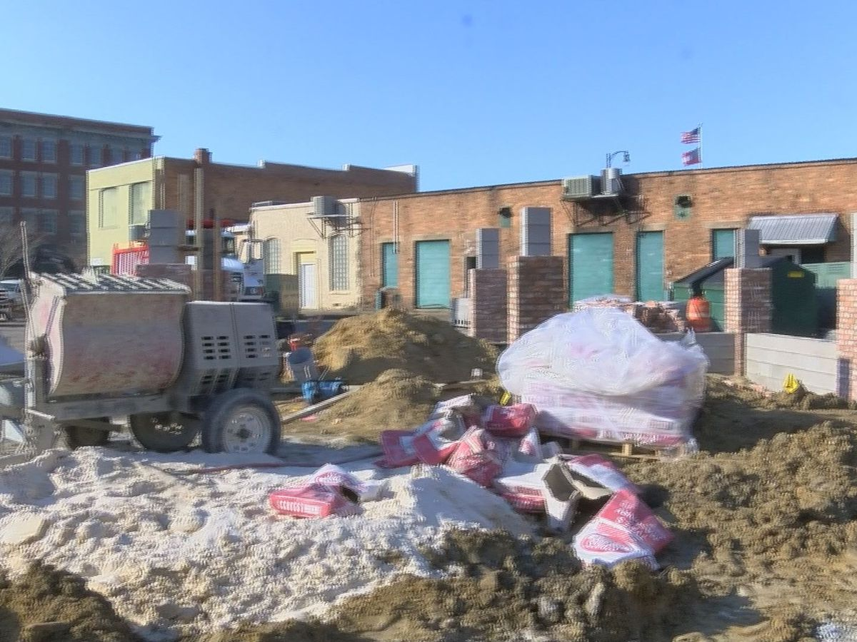 Parking lot renovations underway in downtown Moultrie