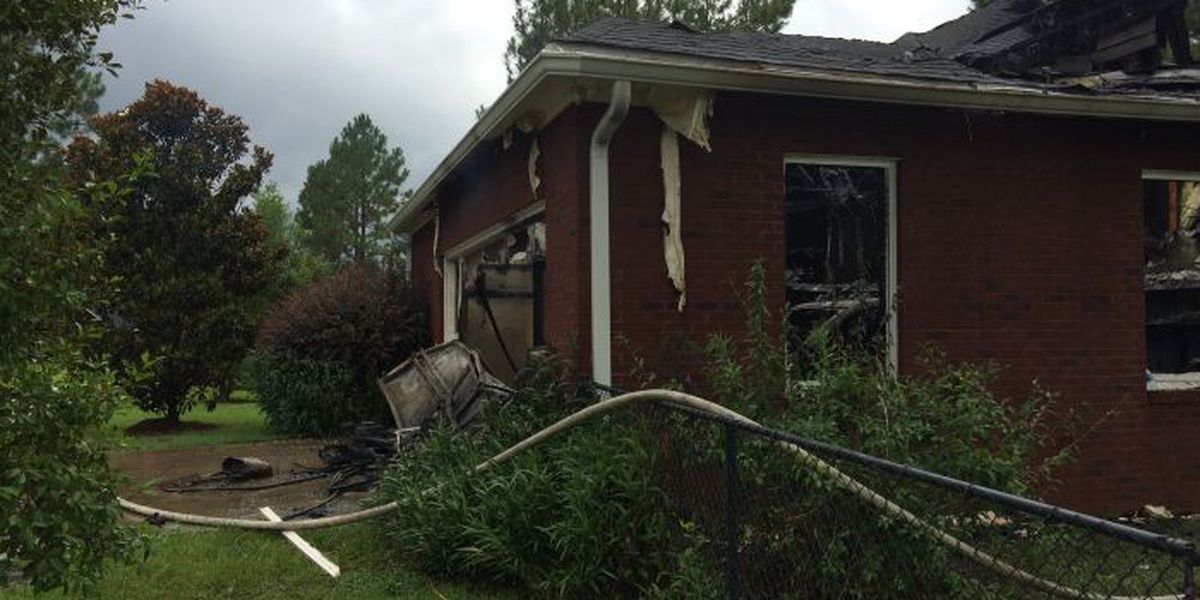 Lightning strike catches house on fire in Lee co.