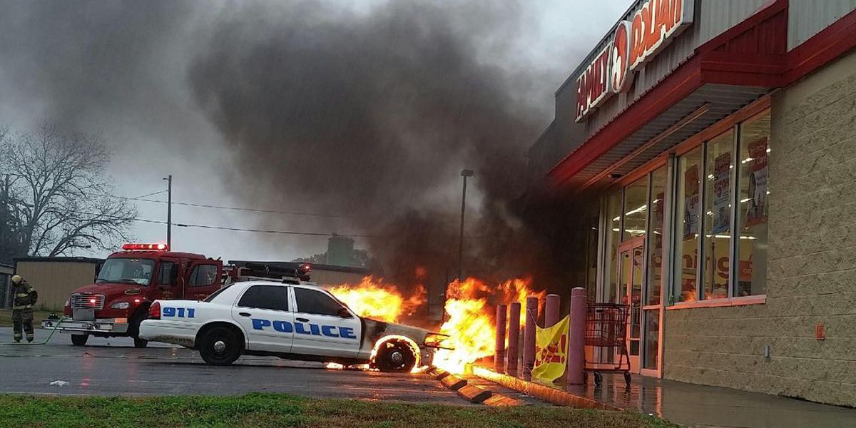 Caught on camera: Doerun police car catches fire