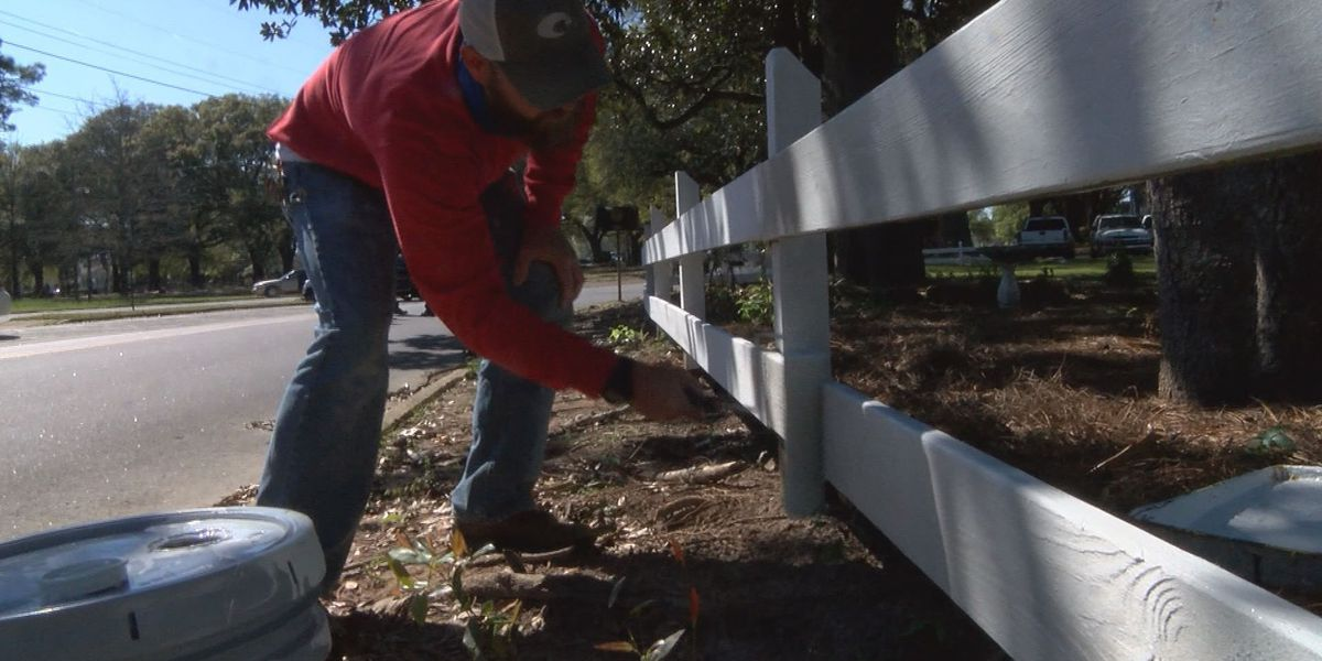 Lowe's and Albany city employees beautify Tift Park