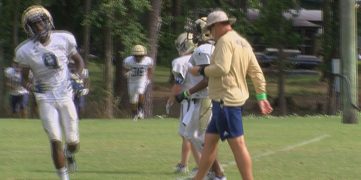 Thomas County Central High School midway through spring practice
