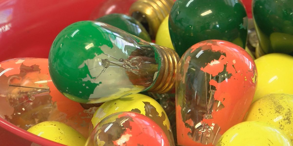 Nostalgic light bulbs transformed and up for sale