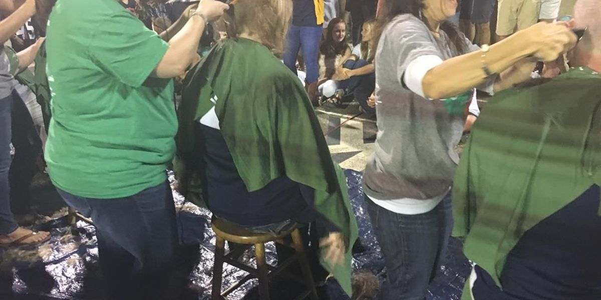 Thomasville students shave heads for cancer awareness