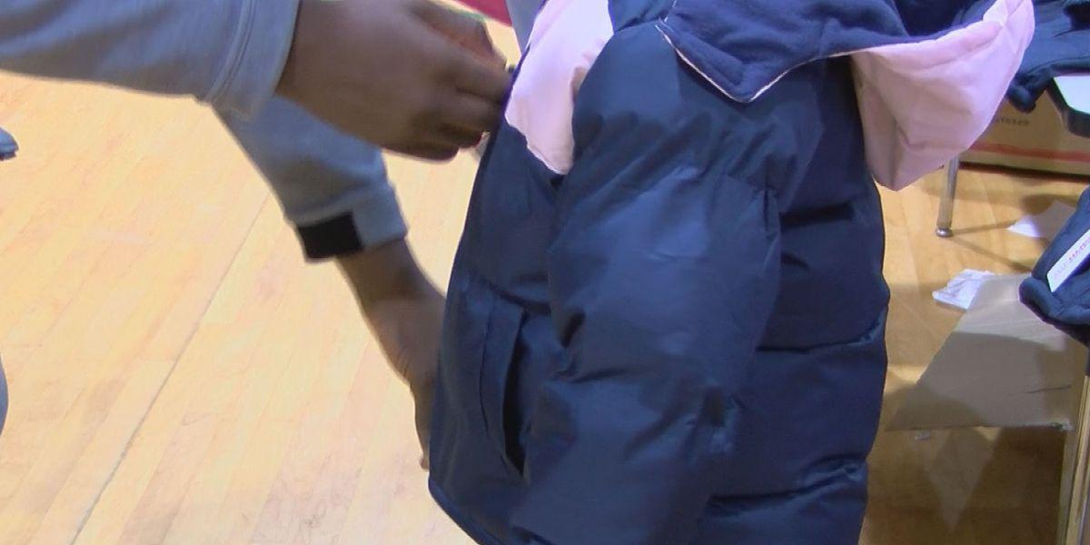 DCSS students receive new coats