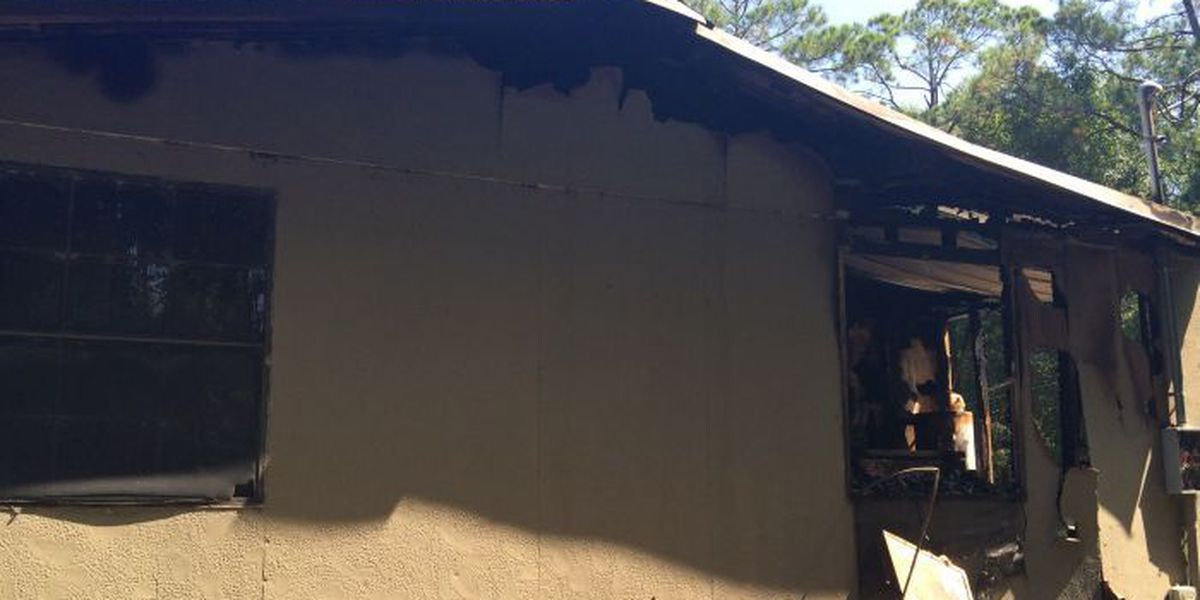 Structure fire destroys Worth Co. home