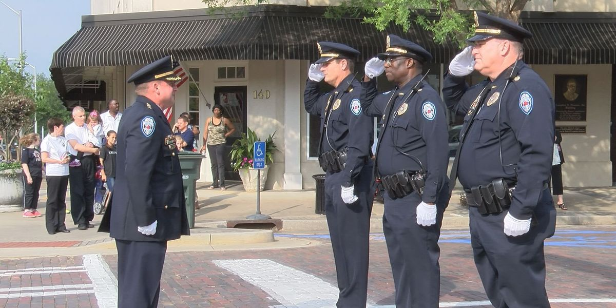 Thomasville PD holds annual inspection and review during Rose Show