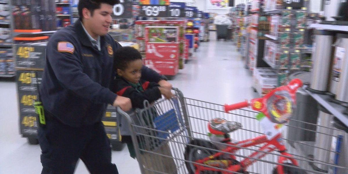 Shop with a Firefighter gives kids a lesson in selfless giving