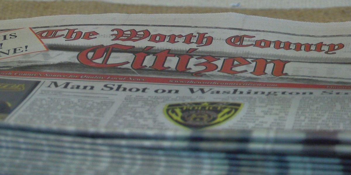Second newspaper begins printing in Worth Co.