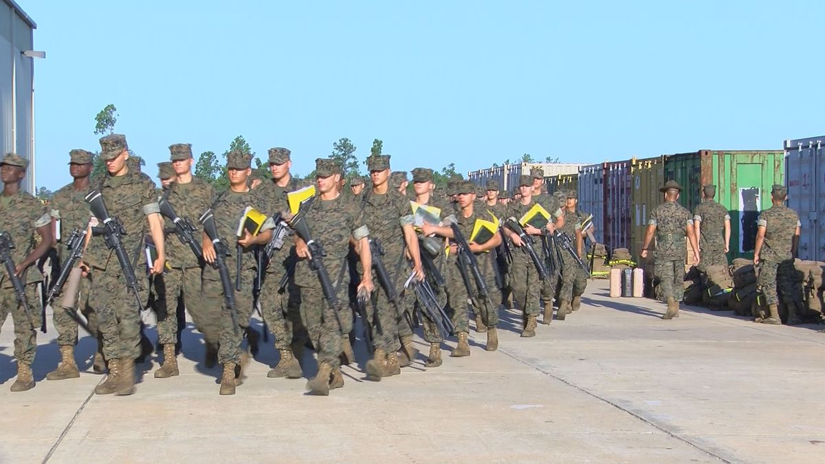 Parris Island marines sent to Albany because of Dorian head back