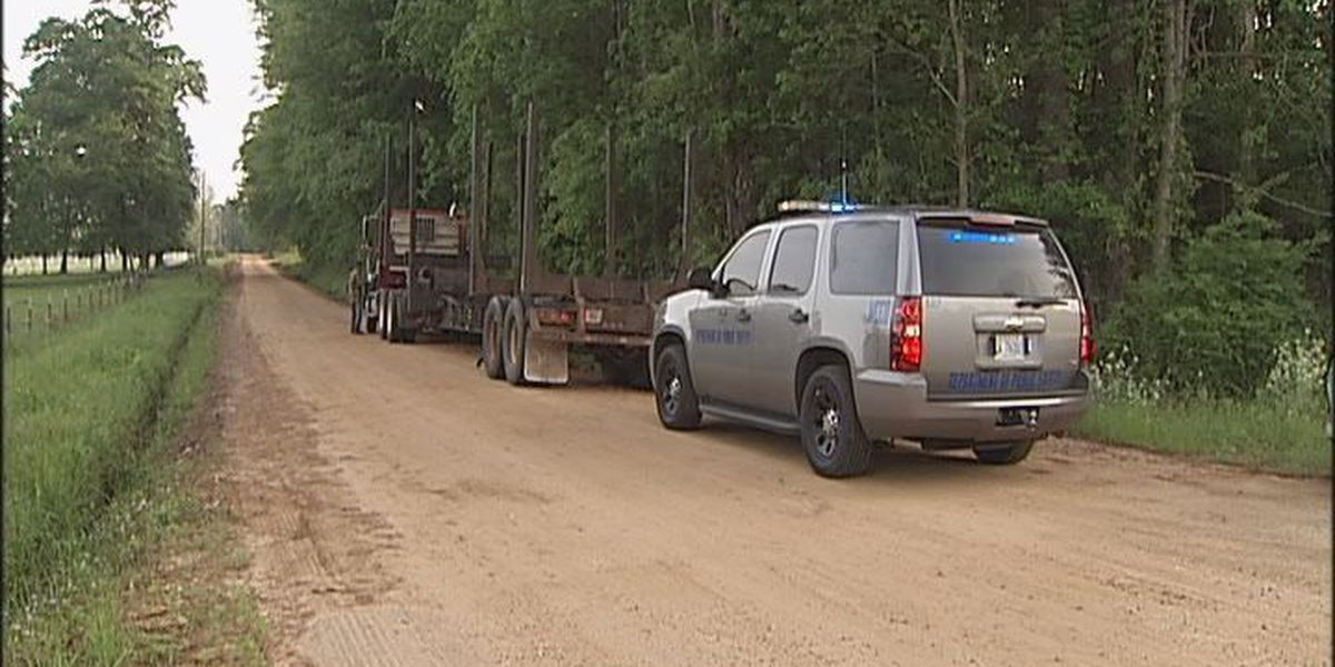 Car crashes into log truck, 2 in hospital