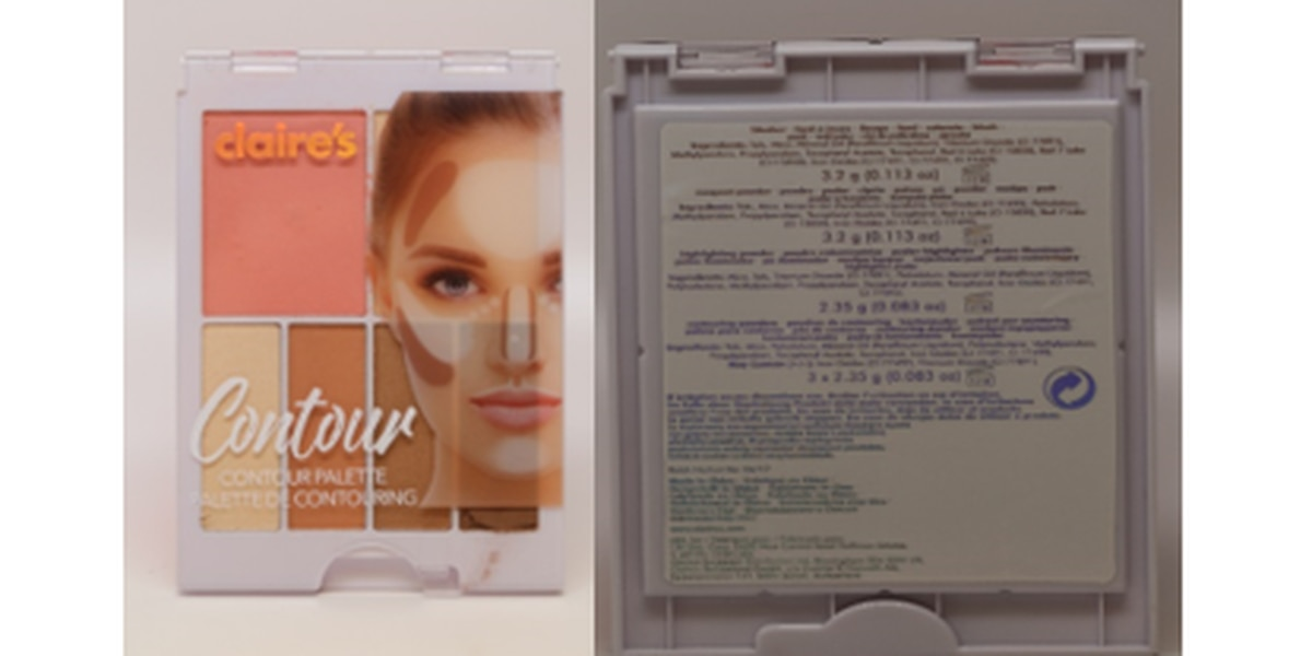 Asbestos found in some Claire's makeup, FDA says