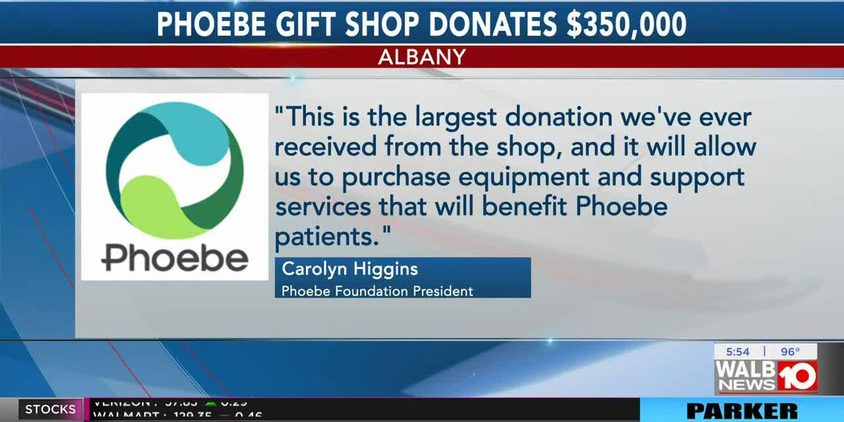 Good News: Phoebe gift shop makes largest ever donation to Phoebe Foundation
