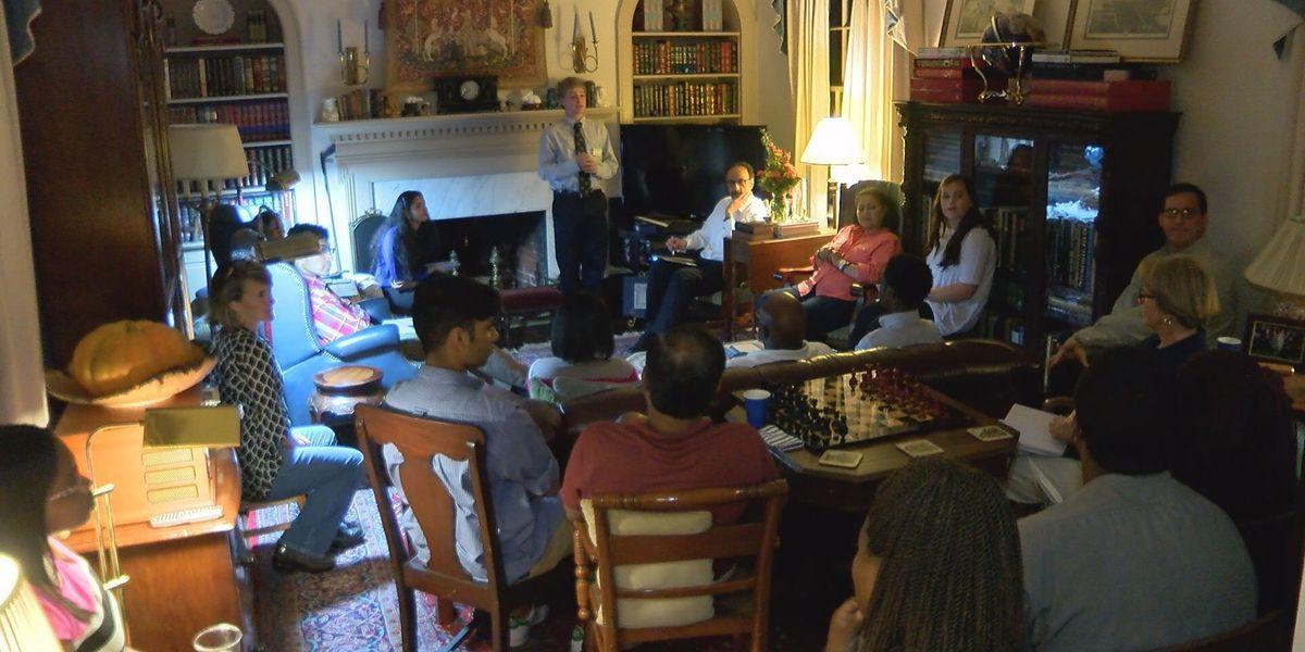 Yale alumnus holds informational meeting