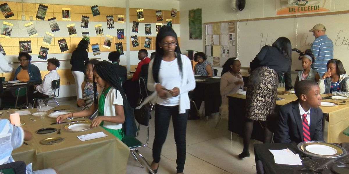 Albany students learn about etiquette, give back