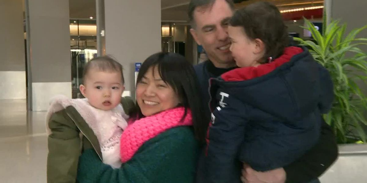 Family reunited after evacuating Wuhan