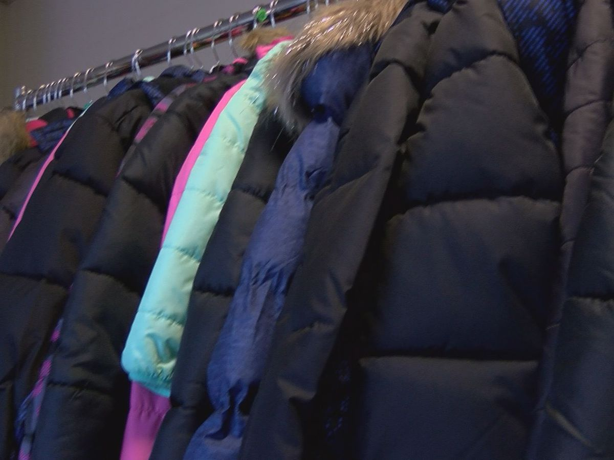 Donated coats available for youth