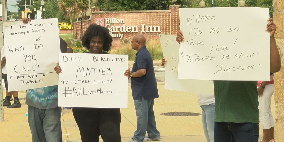 Police involved shootings protested