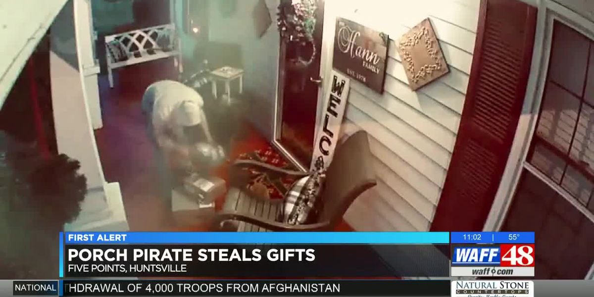 VIDEO: Christmas gifts stolen off the porch of Huntsville home