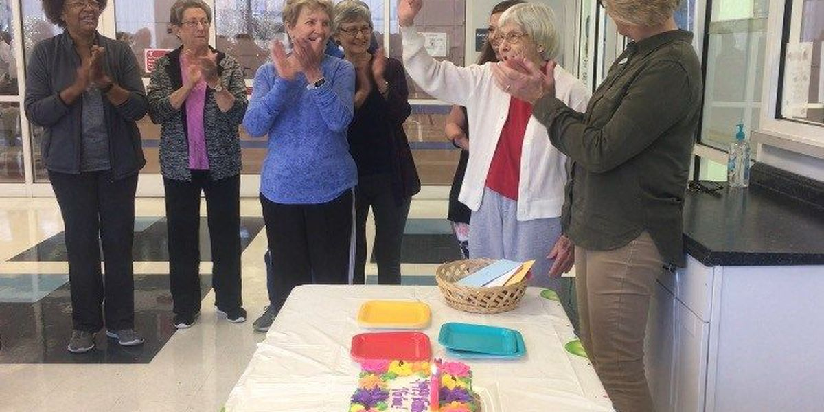 Thomasville woman stays fit and fabulous, celebrates 100th birthday at YMCA