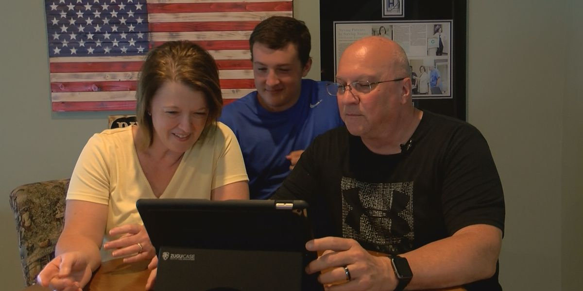 Tifton parents spend Labor Day holiday virtually with two sons, one in the Navy