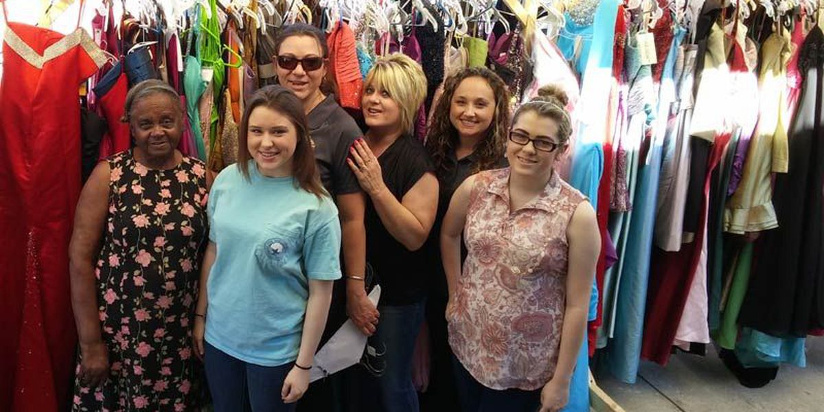 Radio station, sheriff give away prom dresses