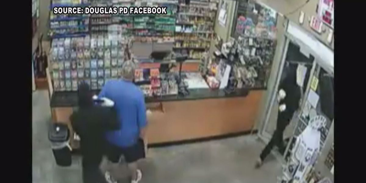 Douglas police search for armed robbers caught on tape