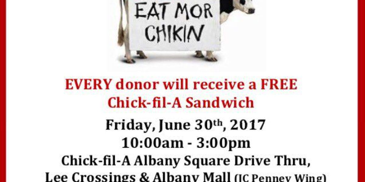 Chick-fil-A to host blood drive