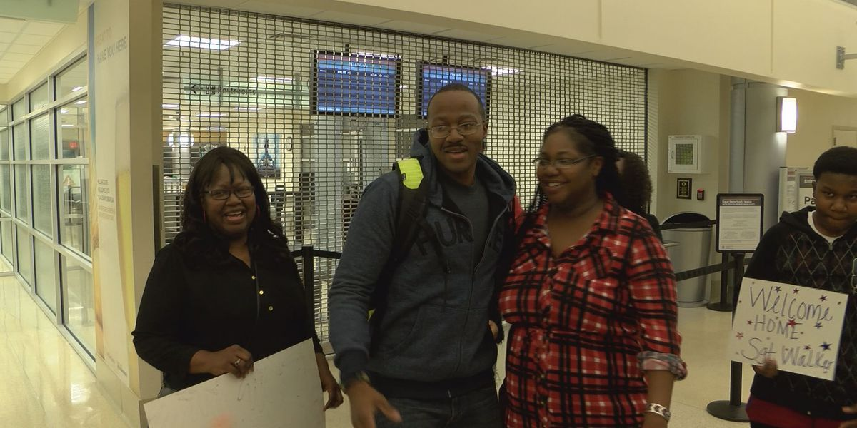 Family welcomes Marine back home for the holidays