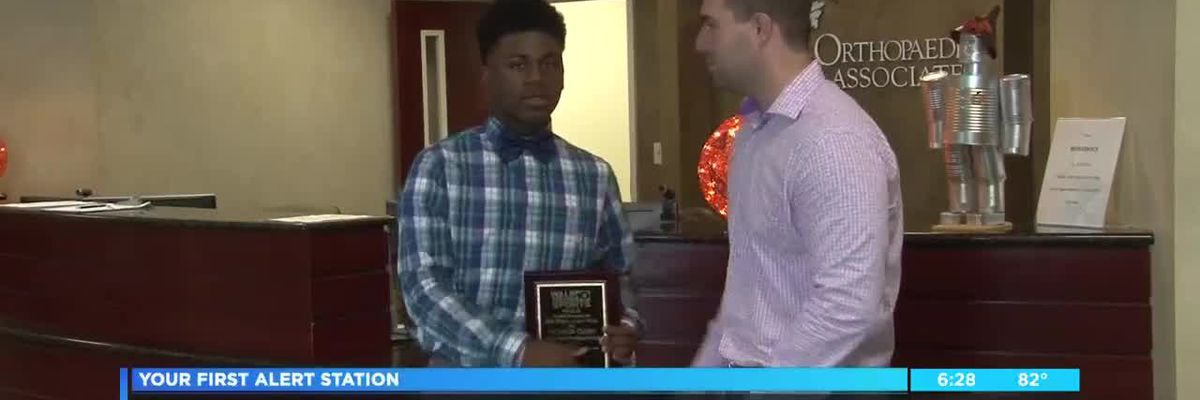 Kentavion Curry wins Sherwood's first player of the week