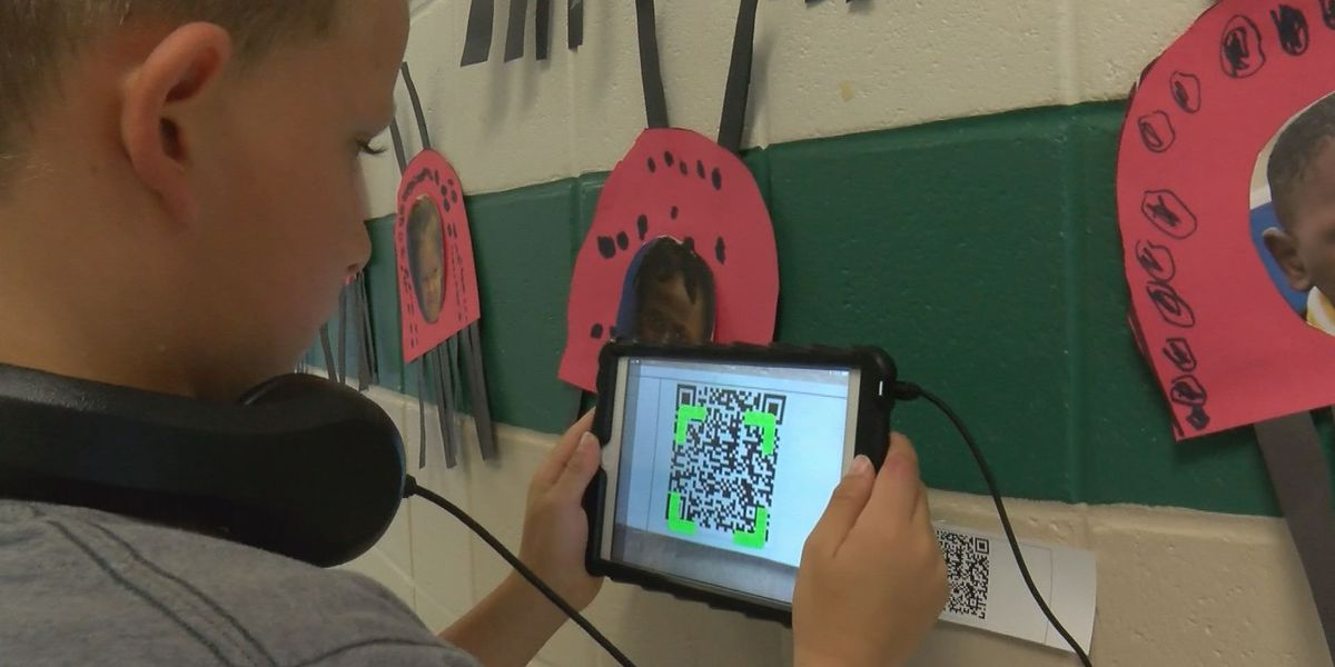 Student use QR codes to learn outside the classroom
