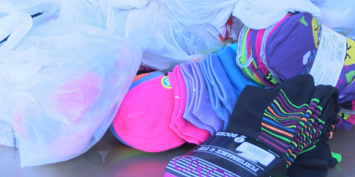 'Sock it to 'Em with Love' giveaway helps children stay warm