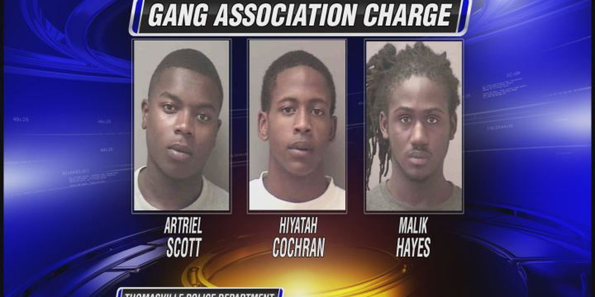 Three men charged with gang participation in Thomasville